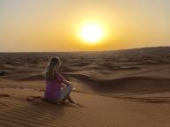 Brooke at Sunset in the Arabian Desert