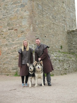 Meeting the Direwolves from Game of Thrones!