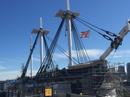 USS Constitution (restoration in progress)